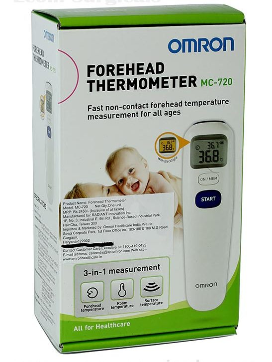 Omron Mc720 Digital 3 In 1 Gentle Contactless Infrared Forehead Thermometer /new Moderate Price Thermometers